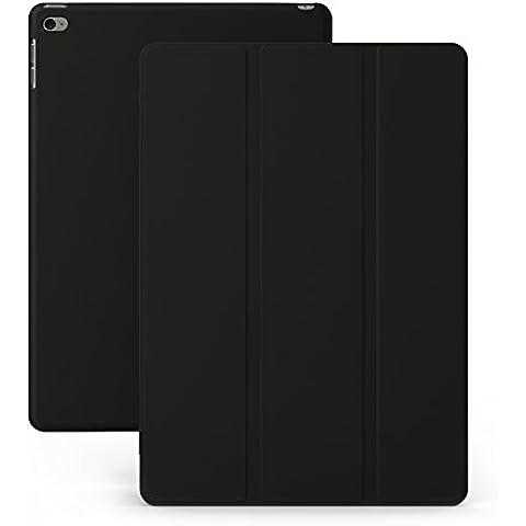 KHOMO Funda iPad Mini 4 - Carcasa Negra Ultra Delgada y Ligéra con Soporte y Smart Cover Negro para Nuevo Apple iPad Mini 4 - Dual