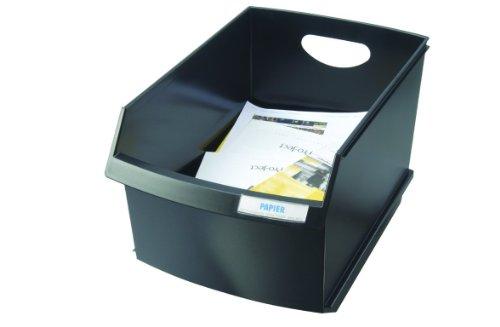 HAN 1849-13, Papierkorb LOGO DRIVE, Die perfekte Lösung zur Abfallseparierung, Formschön und Durchdacht, Beschriftbar, 25 Liter, schwarz