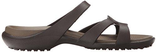 crocs Damen Meleen Twist Offene Sandalen mit Keilabsatz Braun (Espresso/Walnut)