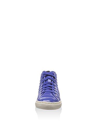 Geox D New Club, Baskets mode femme Bleu