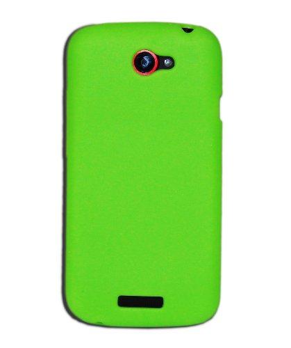 Luxburg®® In-Colour Design Schutzhülle für HTC One S in Farbe Hellgrün/Grün, Hülle Case aus Silikon