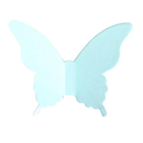 Surker 20 PC / Satz Karton Papier-Schmetterlings-Wand-Dekoration-Aufkleber Kunsthandwerk Aufkleber Schmetterlinge Startseite DIY Verbesserung Dekor-Wandkomplett