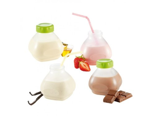 Tefal Multidelices - Accesorios yogurtera, 6 botellines de plástico de 200 mililitros, 1 cepillo limpiador, libro de recetas