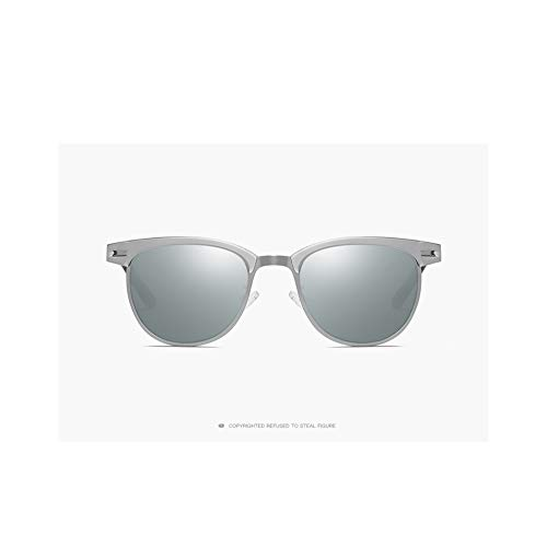 Huanxin Unisex polarisierte Sonnenbrille, Aluminium Magnesium Sport im Freien Reiten Sonnenbrille Mode Retro Big Box Sonnenbrille,b