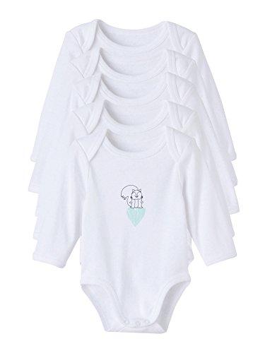 Vertbaudet–Lote de 5Bodies Pur algodón bebé estampado manga