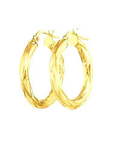 Stroili Oro Orecchini a cerchio in oro giallo 9 kt Diametro 1,9 Cm Referenza 1401737