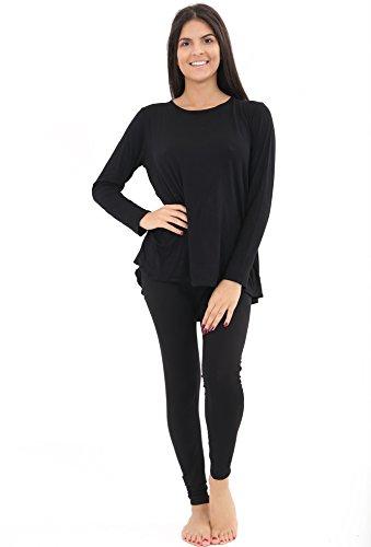 Get The Trend Damen Schlafanzug Schwarz