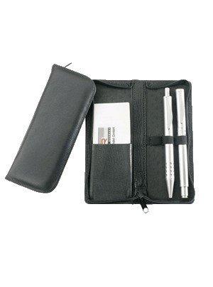 Alassio astuccio portapenne per tre penne vera pelle nero 2603