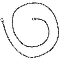 Healifty 120cm Plat Chaîne Sangle Sacs à Main de Remplacement de chaînes pour Femme Bandoulière Messenger Sacs à Main (Pistolet Noir)