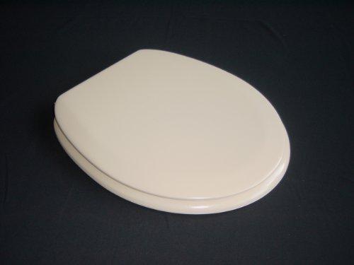 ADOB Polsi Soft WC Sitz gepolstert mit Edelstahlscharnieren, beige, 69575