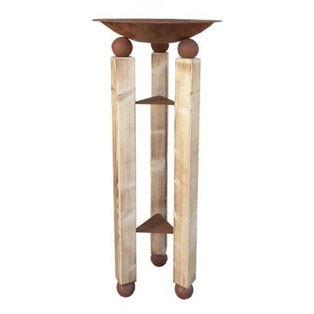 Support colonne Oslo, Épicéa troncs avec bol