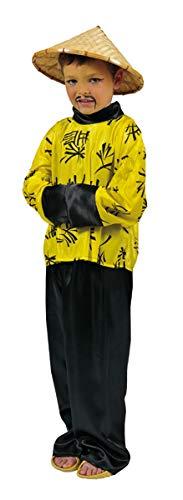 Kostüm Chinese Kind Größe 152/164 Junge Mädchen Karneval Fasching Pierros