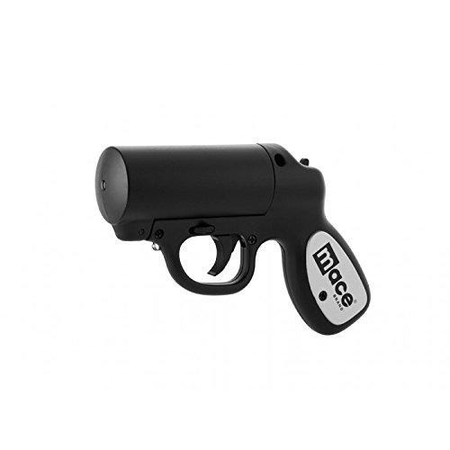 Mace Gun Spray (Mace Pepper Gun Strobe LED - Pfefferspray Pistole schwarz)