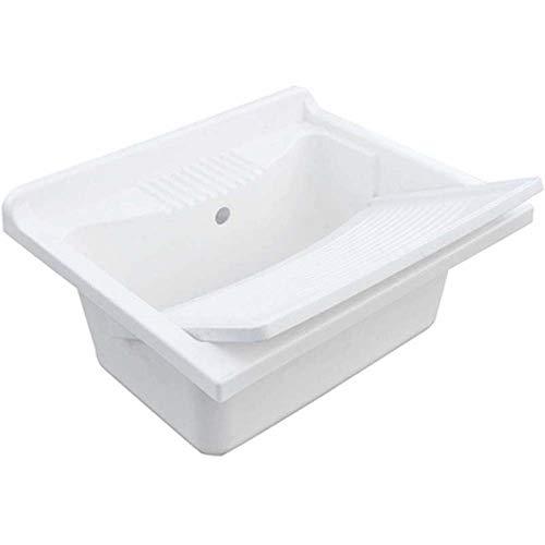 Dianhydro Évier de buanderie + Planche à laver en polypropylène 60 x 50 cm