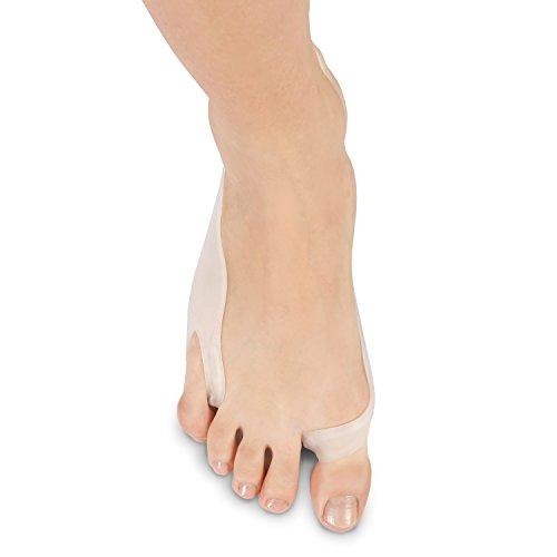 Proteggi alluce valgo della Soles in gel e separa dita con tutore – raddrizzatore per il che allevia il dolore al piede – in silicone ipoallergenico – Taglia unica