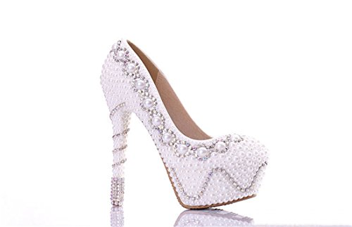 Miyoopark , Semelle compensée femme White-14cm Heel