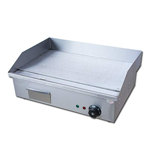 Parrilla Eléctrica de Encimera Parrilla de Restaurante Acero Inoxidable Comercial con Control de Temperatura...