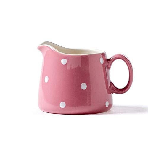 Rosa Keramik Kleine Mariendistel Milchtopf 250Ml Mark Kaffeetasse Milchkännchen Milch Tasse Milch Tasse Cute Home Breakfast Set