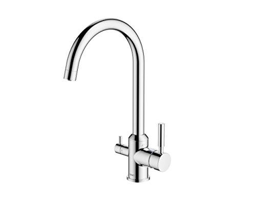 BWT bwtdwfk-tri Flo Premium Trinkwasser Filtration System, chrom-Finish (Trinkwasser Filtration)