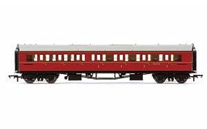 Hornby R4767BR Collett Entrenador Corredor Compuesto RH w6137W Tren Modelo Set, marrón