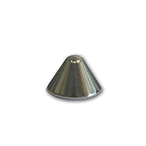 Spitznieten zum Schrauben, Farbe: Silber, Größe: ca. 8 x 5 mm, Inhalt: 100 Stück