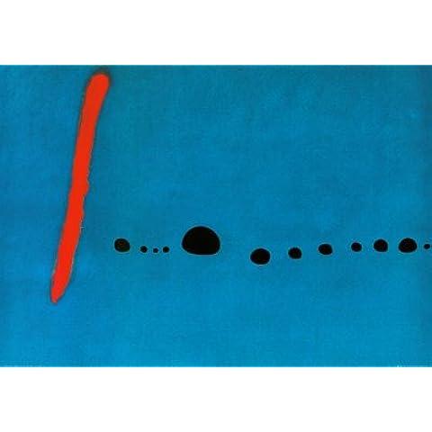 Stampa artistica 'Blu II', per Joan Miró, Dimensione: 100 x 70 cm