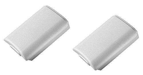 2 x Carcasas / Soportes de Pilas para Mandos Inalámbricos Blanco de Xbox 360 || Garantía de un año || De Gratify®