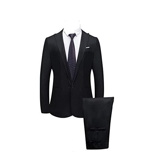 2 Teiliger Set Slim Fit Klassisch Business Mantel&Hose, Männer Blazer für Hochzeit und Party Casual Schlanker Einzelne-Knopf-Hochzeitsfest-Kleid Jacke Suit Regular Fit Mens Top ()