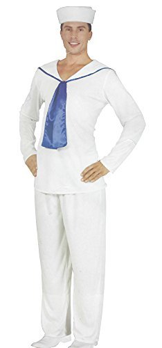 tüm Seemann Weiß Fasching Marine Kapitän Uniform One Size S-M-L ()