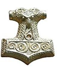 Colgante Martillo de Thor, Colgantes en bronce antiguo, Adornos medievales, Colgantes medievales