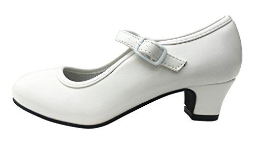 La Senorita Spanische Flamenco Schuhe - Weiß - Größe 34 - Innenmaß 22 cm