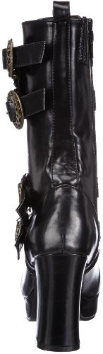 Demonia - Gothika-100, Stivali Donna Nero (Blk Vegan Leather)