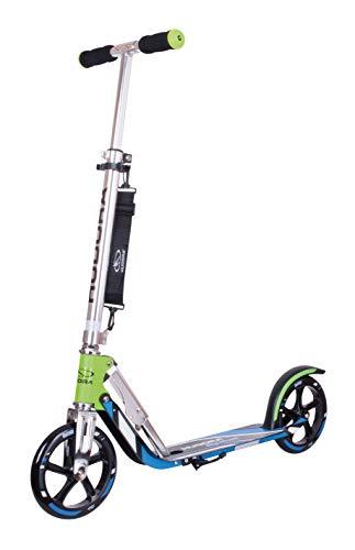 HUDORA 14750 BigWheel 205-Das Original mit RX Pro Technologie-Tret-Roller klappbar-City-Scooter, grün/blau