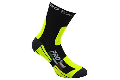 Pro-Line Calze Invernali PROLINE Ciclismo MTB Sci Running Giallo Fluo 37/41 42/46 (42/46)