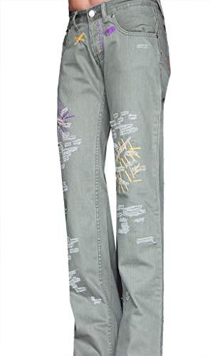 Artigli pantaloni pants donna woman femme taglia size 28/42 verde elegante sportivo moda