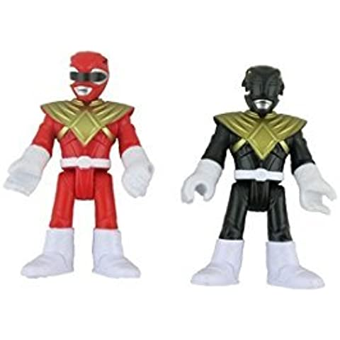 Fisher Price IMAGINEXT Power Rangers Replacement Figures - Black and Red by Fisher Scientific