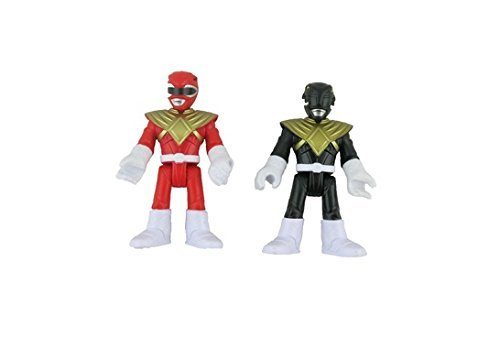Fisher Price IMAGINEXT Power Rangers Replacement Figures - Black and Red