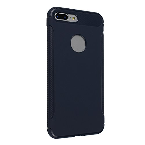 Coque iPhone 7 Plus Gel, Case iPhone 8 Plus Coque de Protecteur, Moon mood® Doux TPU Arrière Etui Couverture de Protection pour Apple iPhone 7 Plus 5,5 pouces Soft Case Cover Bumper Shell Souple Boîti Bleu