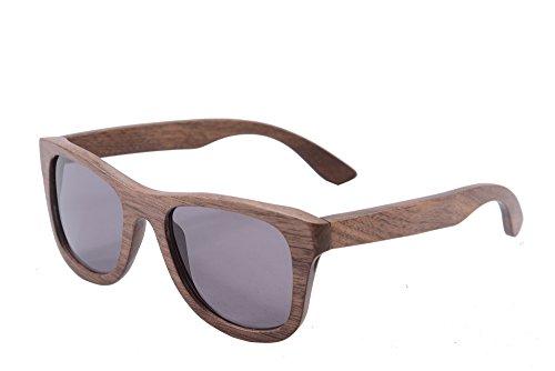 SHINU Woody Bambus Vayfarers Polyarized Flush Spiegel-Objektiv-Sonnenbrille vith Hour-Z6016 (walnut...