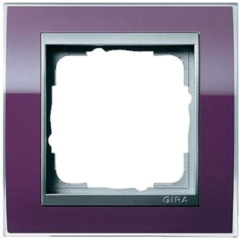 Gira 0211756 Mascherina di copertura 1 modulo per color alluminio Event melanzana