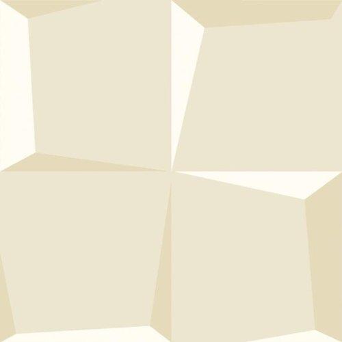 ECO TAPETEN GRAPHIC 1542 - PAPEL PINTADO  DISEñO EFECTO 3D (NAPA)  COLOR BLANCO Y BEIGE