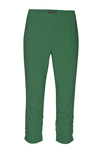 Stehmann - Stretchhose MARIA 530 Caprihose -viele Farben-mit EXTRA-Fashion Armreif- eng Pull-On Hose mit Raffung am Bein Hibiskus