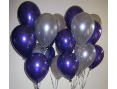 royal kart Purple & Siver Colour Metallic Balloons-300Pcs