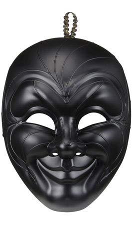 Widmann 04718-Venezianische Maske Gran Gala Herren Smiley, Schwarz, Einheitsgröße