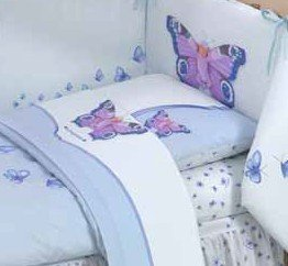 Lenzuola Baby culla Butterfly Anne Geddes - Completo per culla