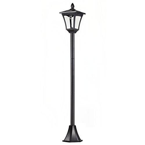 Outsunny Lampione LED da Esterno ad Energia Solare Lampada da Giardino Lampada da Terra Impermeabile IP44 18 × 18 × 160cm Nero