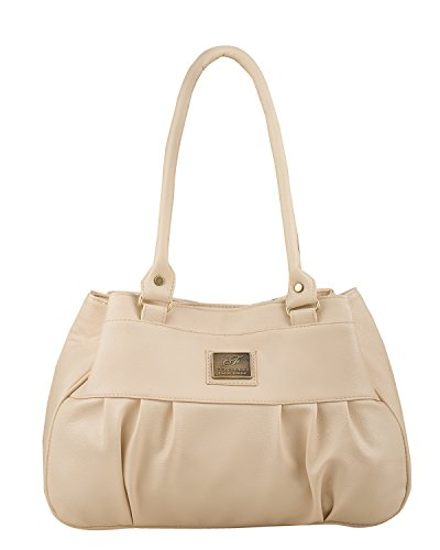 Fostelo Women's Deux Shoulder Bag (Cream) (FSB-730)