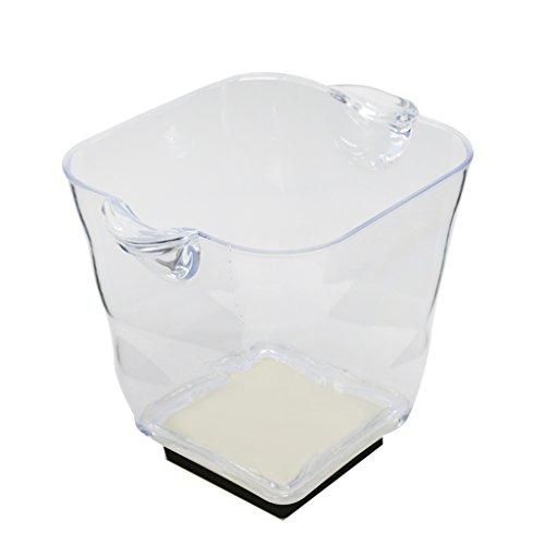 MagiDeal LED Eiswürfelbehälter, Flaschenkühler, Eiskübel, Einseimer, Weinkühler, Eiskühler für Party, Abendessen, BBQ - 5L - 20x 22x 25cm - 7 Farben
