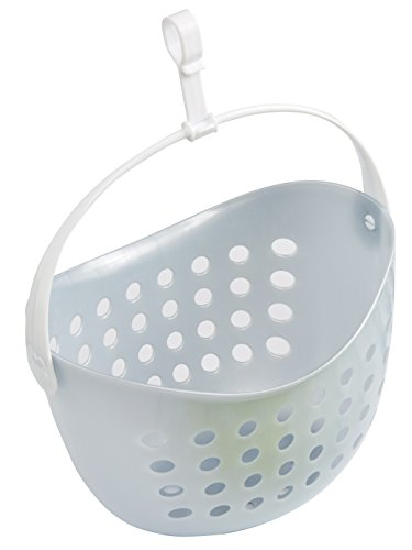 culiclean Peg Basket for Laundry/Clothes Pegs (1 piece, white with grey handle)