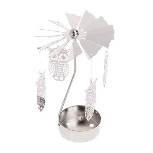 Besttse Drehbare Teelichthalter aus Metall mit Karussell als Heimdekoration, Geschenk